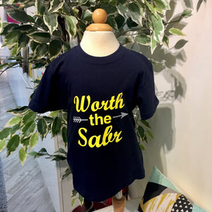 Worth the Sabr Kids T-Shirt