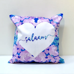 Salaam (Purple Flowers) Cushion
