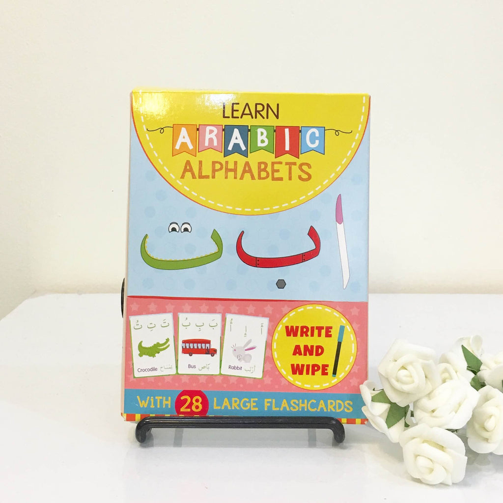 Learn Arabic Alphabet Flashcard - Write and Wipe