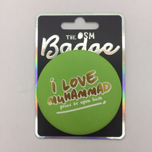 I love Muhammad PBUH Badges