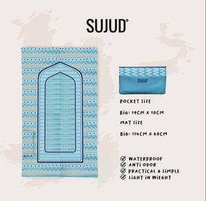 Sujud Blue Aztech - Pocket Travel Sejadah