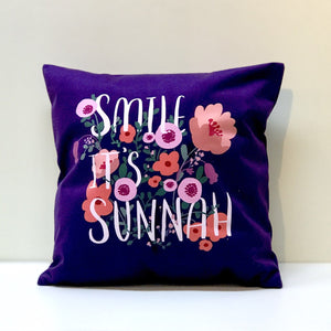 Smile it's Sunnah (Purple) Cushion