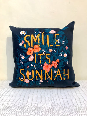Smile it's Sunnah (Black) Cushion