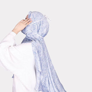 Scaledge Armani Printed - Babyblue Fern Shawl