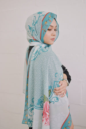 Walinongsari Teal - Exclusive Shawl
