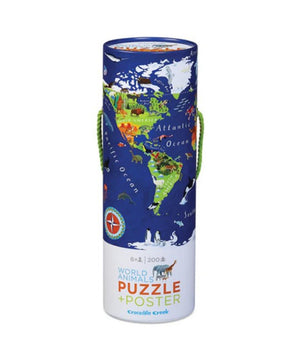 200-pc Puzzle+Poster - World Animal