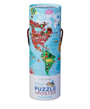 200-pc Puzzle+Poster - World Cities