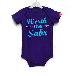 Worth the Sabr Baby Romper