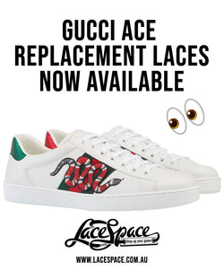 Gucci Ace Replacement Laces | Black Gucci Laces & White Gucci Laces