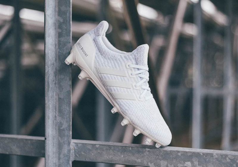 Ultra Boost: Triple White Cleats