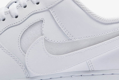f4684ae0520 These Air Forces have velcro swooshes and come with leather swoosh patches  in multiple colours so you can be creative. Add one colour