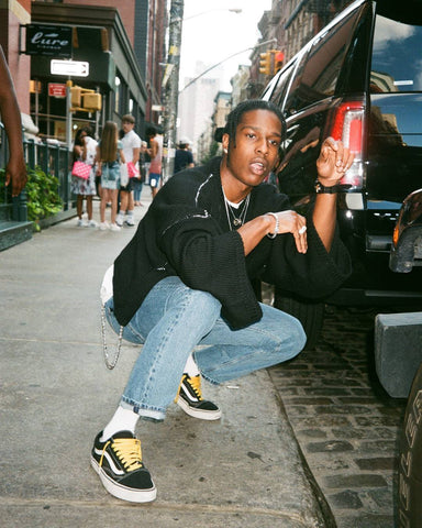 A$AP Rocky in Vans with Yellow Laces