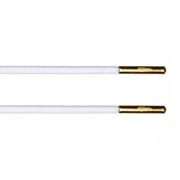 White Rope Lace - Gold Metal Aglet - LaceSpace