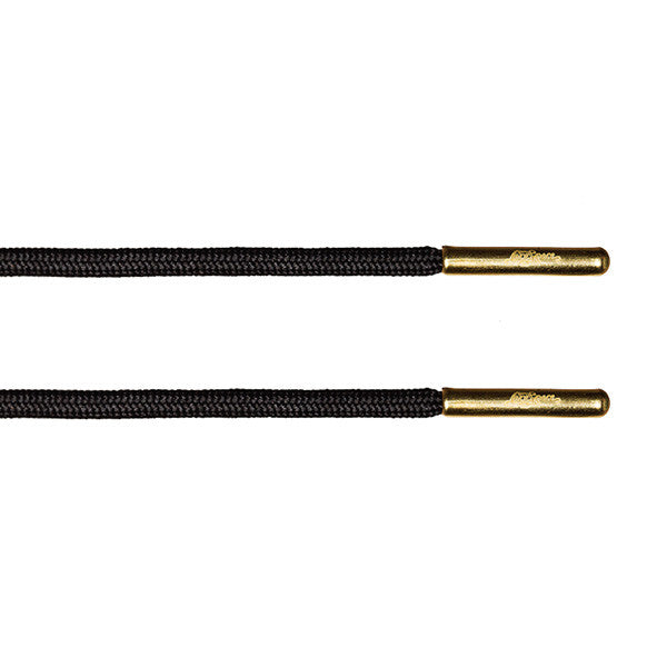 Black Rope Lace - Gold Metal Aglet - LaceSpace