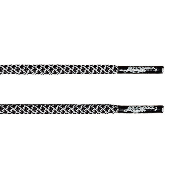 Black/3M Reflective Classic Rope Lace - LaceSpace