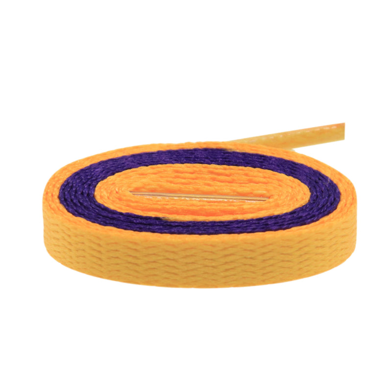 Air Jordan Laces - Two Tone - Purple/Gold Lakers Inspired - LaceSpace