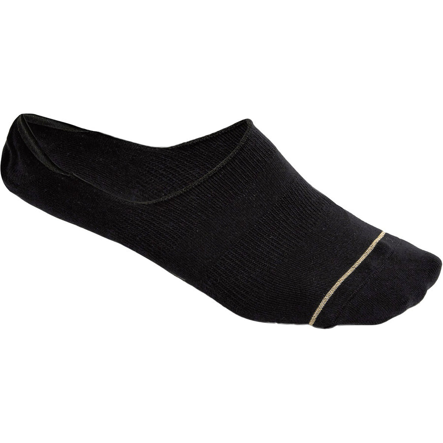 BLACK - Premium Cotton Blend Invisible Socks - LaceSpace