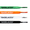 "Flat White, Black, Orange, Green Value Pack OFF-WHITE x Nike ""SHOELACES"" - LaceSpace"