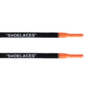 "Oval -  ""SHOELACES""  inspired by OFF-WHITE x Nike - Black w/ Orange Tip - Air Max - LaceSpace"