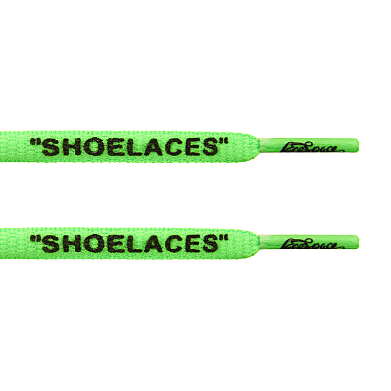 "Oval - Green  ""SHOELACES""  inspired by OFF-WHITE x Nike - Presto and Vapormax - LaceSpace"