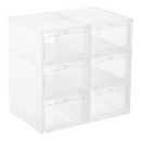 Drop Front Sneaker Display Cases | Clear - Pack of 6 Cases - LaceSpace