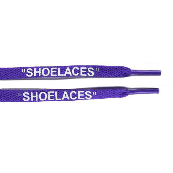 "Purple - OFF-WHITE x Nike ""SHOELACES"" - Flat Laces - LaceSpace"