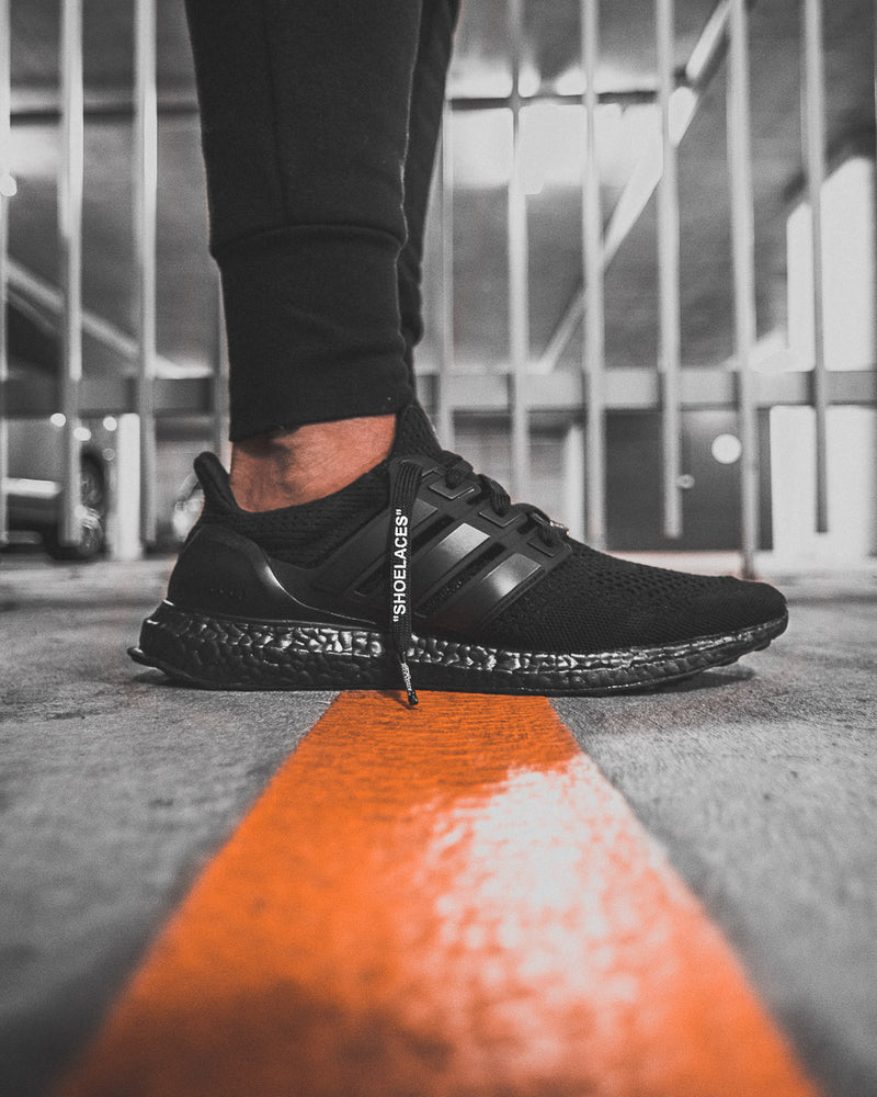 "Black -  ""SHOELACES""  inspired by OFF-WHITE x Nike- Flat Laces - LaceSpace"