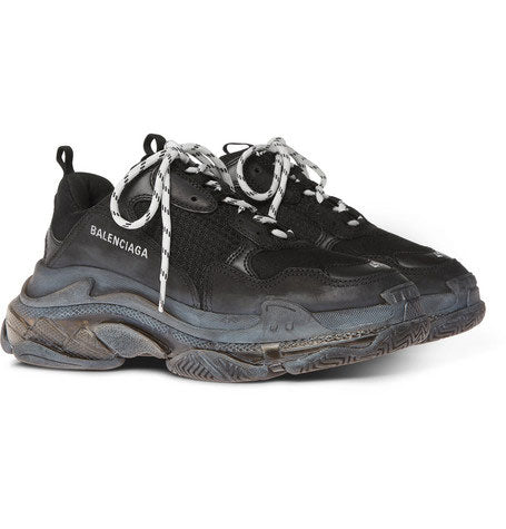 Balenciaga Triple S Replacement Laces - White & Black - LaceSpace