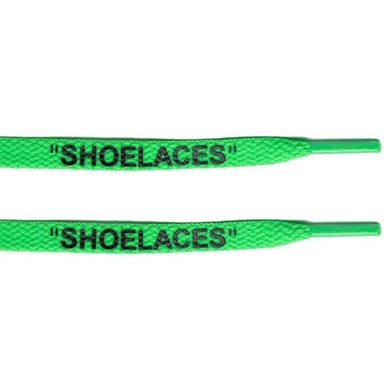 "Green - ""SHOELACES""  inspired by OFF-WHITE x Nike- Flat Laces - LaceSpace"