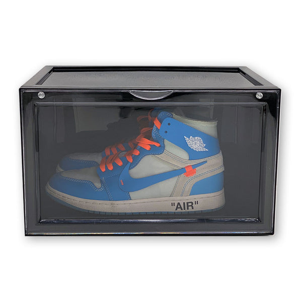 Side View Sneaker Display Cases | Black - 10 Pack - LaceSpace