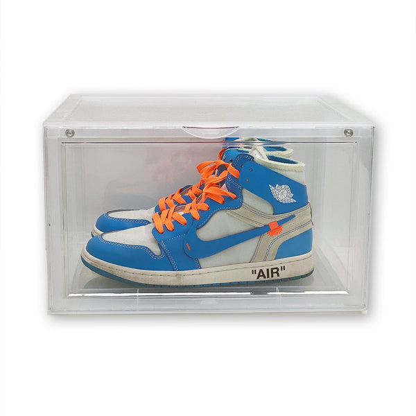 Side View Sneaker Display Cases | Clear - 10 Pack - LaceSpace