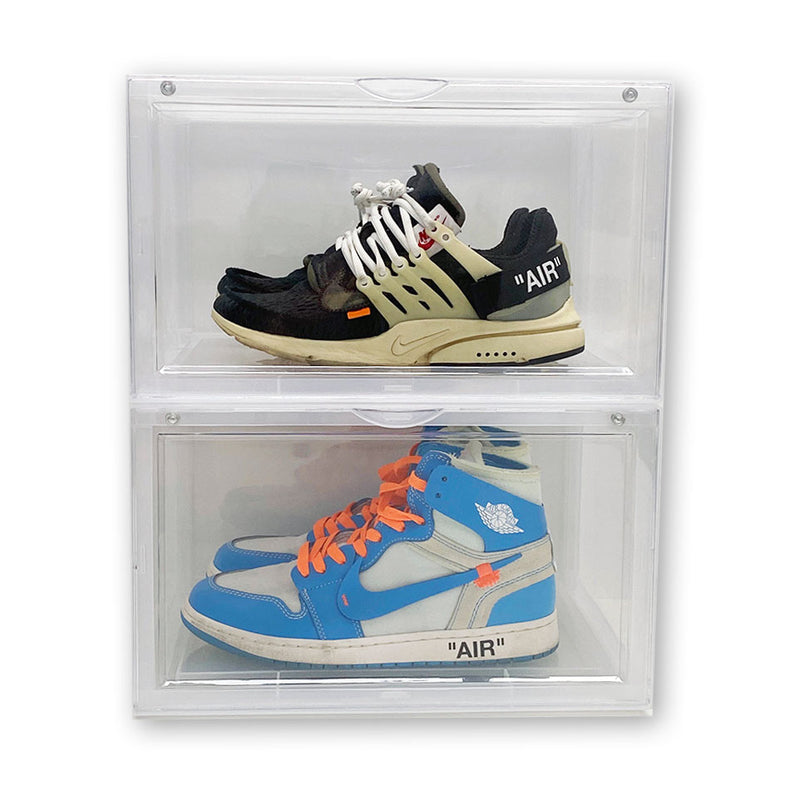 Extra Large - Magnetic Side Door Sneaker Display Cases | Clear - 10 Pack - LaceSpace