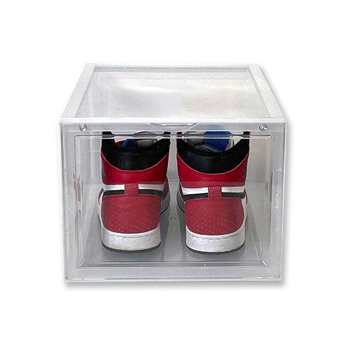 Extra Large - Magnetic Front Door Sneaker Display Cases | Clear - 10 Pack - LaceSpace