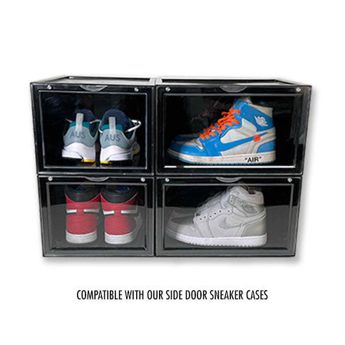 Extra Large - Magnetic Front Door Sneaker Display Cases | Black - 10 Pack - LaceSpace