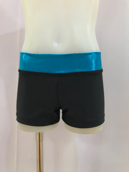 Straight Band Shorts - Aqua / Black