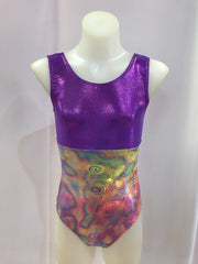 Two Tone Gym Leotard Purple / Festive Frenzy