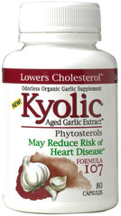 #107 Garlic Extract with Phytosterols Kyolic 80 Caps