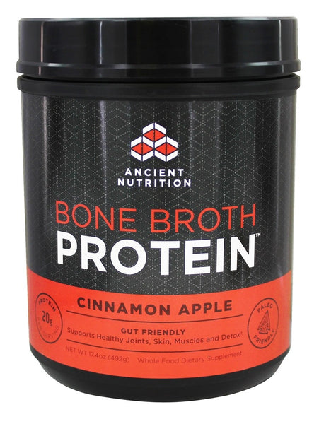 Ancient Nutrition - Bone Broth Protein Cinnamon Apple - 17.4 oz.