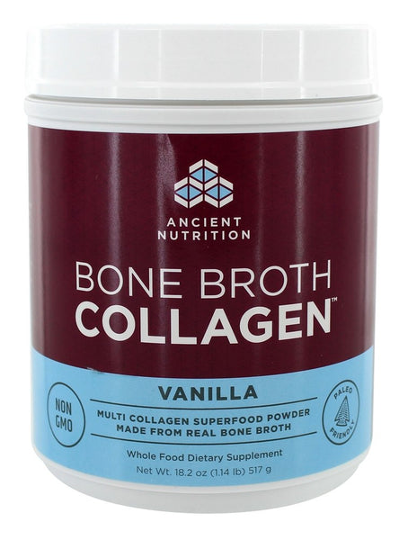 Ancient Nutrition - Bone Broth Collagen Vanilla - 18.2 oz.