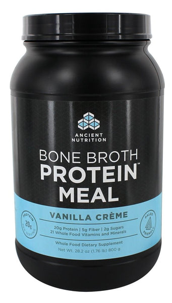 Ancient Nutrition - Bone Broth Protein Meal Vanilla Creme - 28.2 oz.