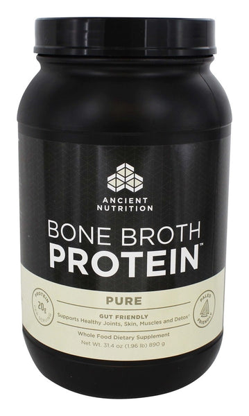 Ancient Nutrition - Bone Broth Protein Pure - 40 Serving - 31.4 oz.
