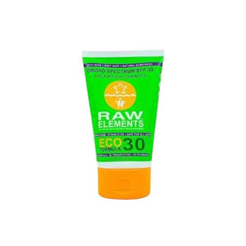 Raw Elements Eco Formula Sunscreen, SPF 30 Plus, 3 fl oz
