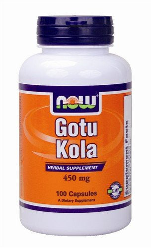 NOW Foods Gotu Kola 450 mg, 100 Capsules