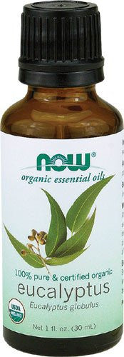 NOW Organic Essential Oils 100% Pure & Certified Organic Eucalyptus