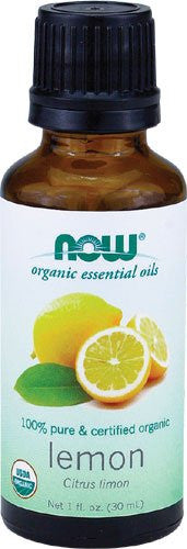 NOW Organic Essential Oils 100% Pure & Certified Organic Lemon