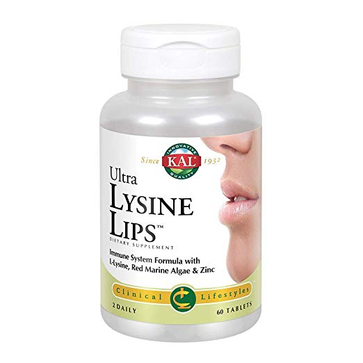 KAL, Ultra Lysine Lips, 60 Tablets Exp: 08/2021