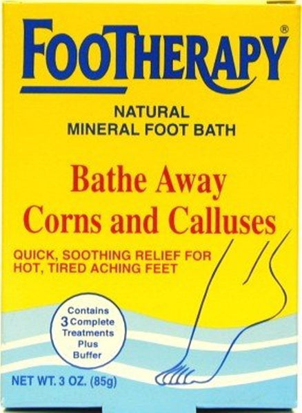 FooTherapy Natural Mineral Foot Bath Bathe Away Corns and Calluses
