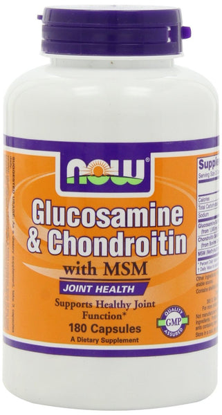 NOW Foods Glucosamine & Condroitin with MSM, 180 Capsules