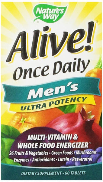 Nature's Way Alive Once Daily Men's Multi Ultra Potency, 60 Tablets