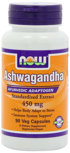 NOW Foods Ashwagandha Extract 450 mg, 90 Vcaps
